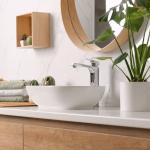 Płytki wielkoformatowe w nowoczesnej łazience